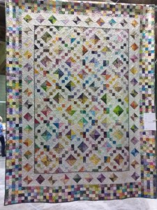 """Bloomin Step"" Pieced by Erika Gillis, Quilted by Lynn Mokriy"