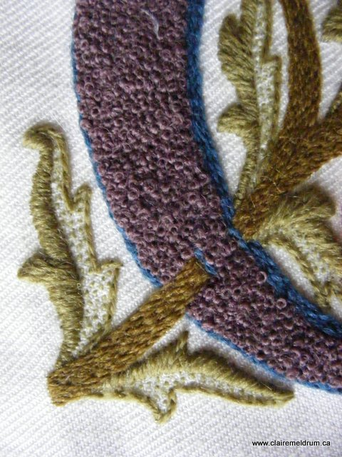 Crewel Monogram detail 5