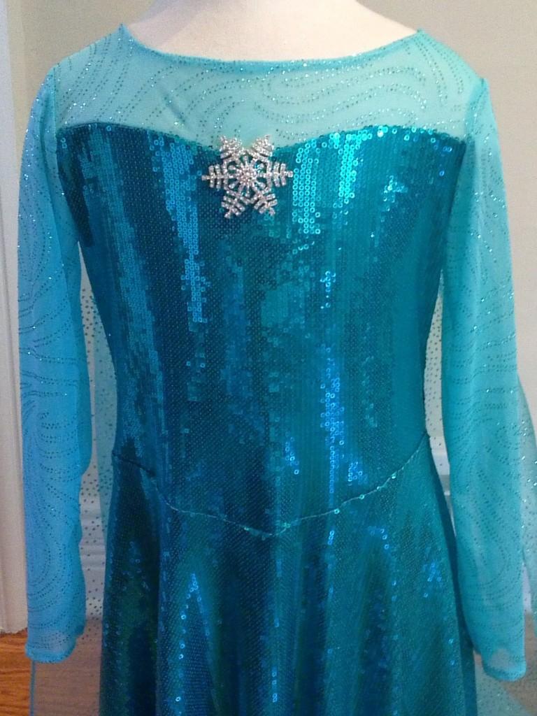 Elsa Frozen bodice close up