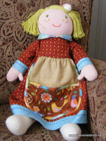 Gathering Threads Free Dress Pattern For 18 Knit Doll Smocking