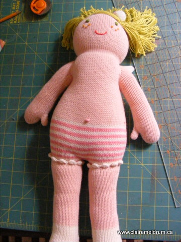 Gathering Threads   Free Dress Pattern for 18? Knit Doll ...